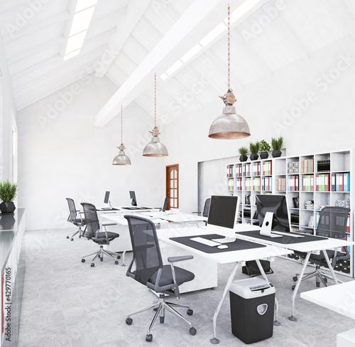 modern office interior design concept - fototapety na wymiar