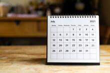Calendar - July 2021