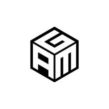 AMG Letter Logo Design With White Background In Illustrator, Cube Logo, Vector Logo, Modern Alphabet Font Overlap Style. Calligraphy Designs For Logo, Poster, Invitation, Etc.