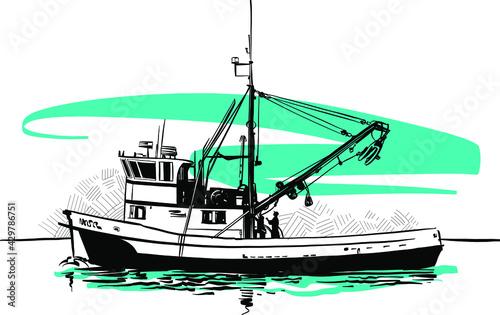 Valokuva fishing boat on the water