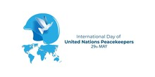Vector Illustration Concept Of International Day Of United Nations Peacekeepers. May 29.