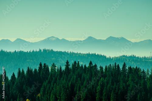 Górska perspektywa - fototapety na wymiar