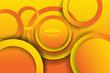 Abstract 3D circle papercut overlap layer orange gradient shape design modern futuristic background vector illustration