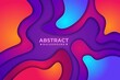 Abstract Wavy colourful background with 3D style. Modern liquid background. Abstract textured background with mixing pink,purple, blue, and orange color. Eps10 vector illustration.