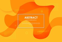 Dynamic Orange Textured Background Design In 3D Style With Orange Color. EPS10 Vector Background.