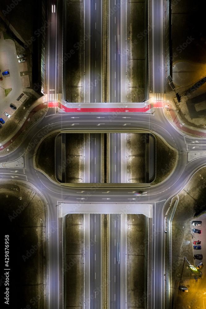 Fototapeta circle, road