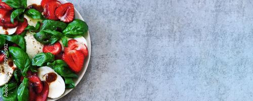 Fotografering Caprese salad with strawberries
