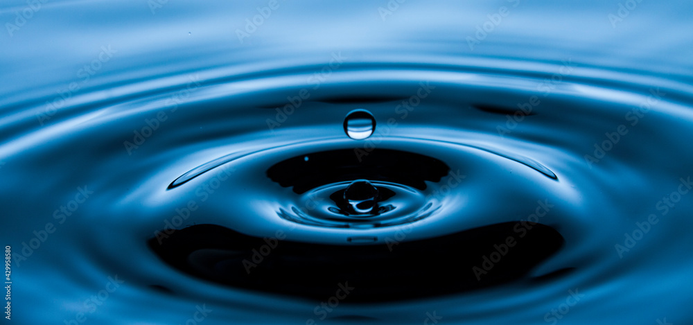 Fototapeta Kropla, woda, wzburzona tafla wody