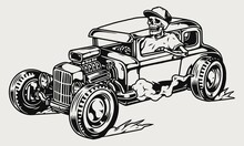 Hot Rod Retro Car Concept