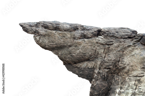 Fotografie, Tablou rock isolated on white background.