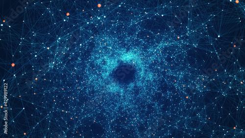 Obraz na plátne Technology Network Background Concept
