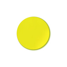 Vector Bright Yellow Circle Sticker Isolated On White Background, Design Element, Colorful Illustration.