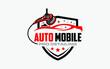 Illustration vector graphic of auto detailing servis logo design template