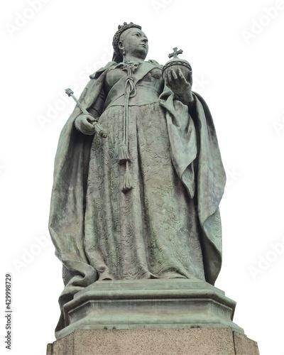 Obraz na plátně Queen Victoria statue in Birmingham