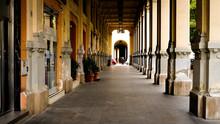 Portico Of Palazzo Natella In Salerno, Italy