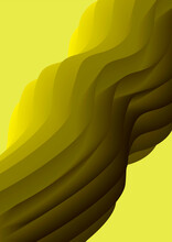 Abstract 3D Backgground In Yellow And Greay Colours.