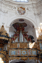 Small Organ In A Swiss Temple