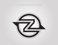 Abstract Circle Letter Z  Logo Icon Design Template. Initial Z Mark Vector.