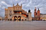 Fototapeta Miasto - Old Town square in Krakow, Poland