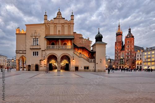 Fototapeta Old Town square in Krakow, Poland obraz
