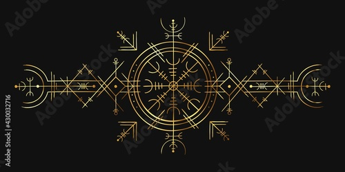 Fotografie, Obraz Viking magic symbol