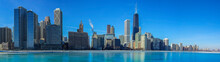 Panoramic View Of The City Of Chicago Skyline