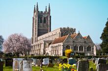 Church With Graveyard In Long Melford ( Suffolk - England )