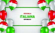 Realistic Festa Della Repubblica Illustration