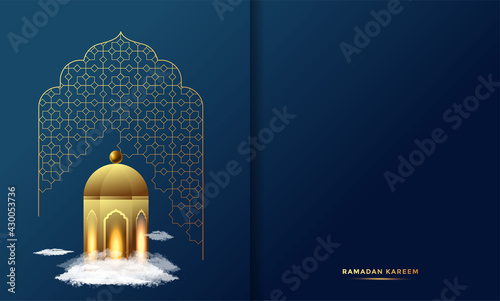 Obraz na plátně Ramadan Kareem Arabic Calligraphy Greeting Card_2