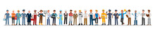 People Group Different Job And Occupations Character Vector Design. Labor Day.