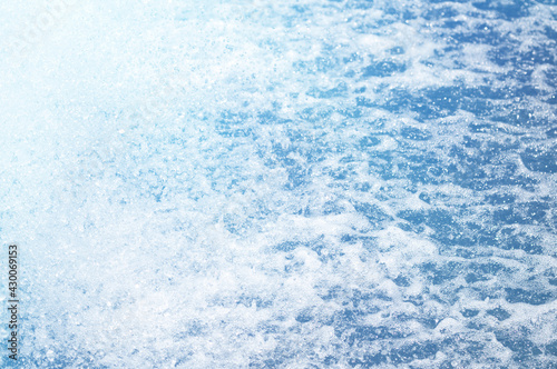 Canvas Print Water droplets, water dispersion, water flow does not return.