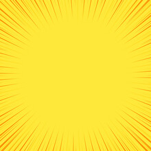 Yellow Colored Ray Burst Style Background Speed Vector Design