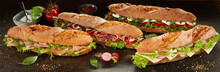 Collection Of Delicious Sub Sandwiches