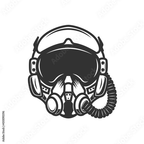 Slika na platnu Illustration of pilot helmet
