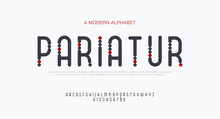 Rounded Modern Minimal Abstract Alphabet Fonts With Dots For Sport, Technology, Fashion, Digital, Future Creative Logo.