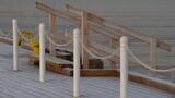 Fototapeta Fototapety z morzem do Twojej sypialni - Zejście do wody z drewnianego molo w Sopocie, Polska