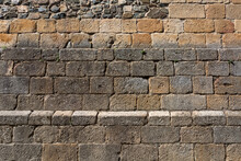 Architecture Textures, Granite And Schist Mix, Medieval Paired Masonry Wall