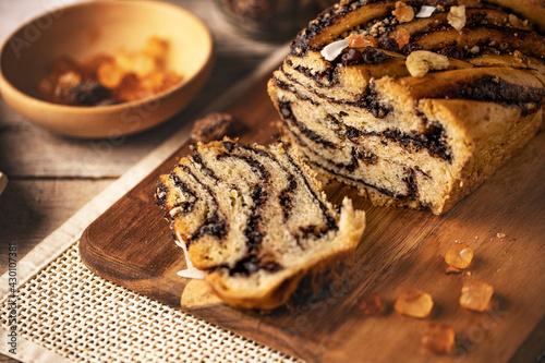 Fototapeta Traditional Polish vegan babka cake obraz
