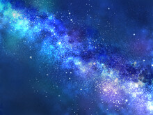 天の川が流れる夜空(ヨコ)