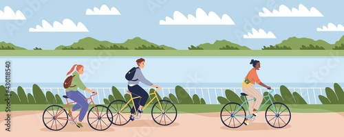 Canvas Print Cyclists people outdoor