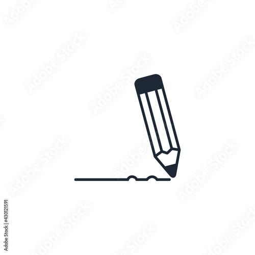 Obraz na plátně pencil icon education symbol