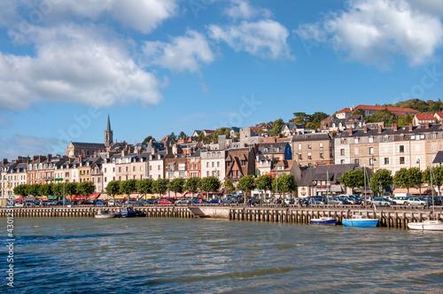 Fototapeta Cityscape of Trouville in Normandy, France obraz