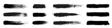 Big Collection Of Grunge Black Paint, Ink Brush Strokes. Brushes, Lines, Brush, Strokes, Grunge, Dirty, Backdrop. Grunge Backgrounds Set - Stock Vector.