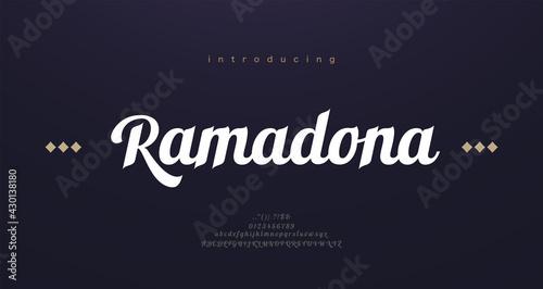 Tela Arabic style font alphabet letters