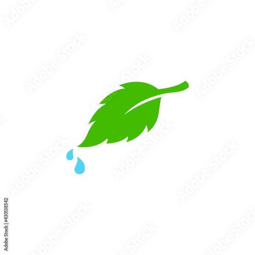 Tablou Canvas Leaf icon vector illustration. Ecology symbol