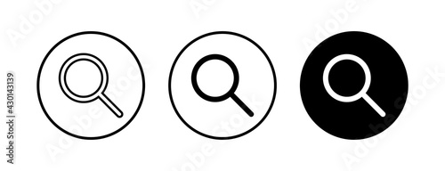 Canvas Search icons set