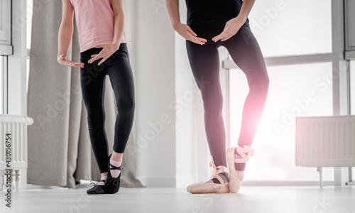 Fotografie, Obraz Ballerinas legs during dance class