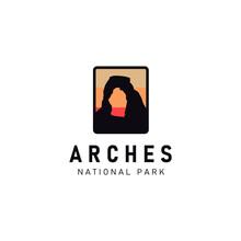 Logo Illustration Of Arches National Park