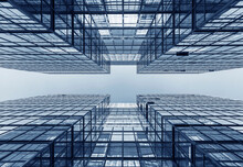 Exterior Of Modern Office Building. Architecture Abstract Background
