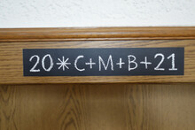 Epiphany Door Chalking (20 C M B 21) - Christian Epiphanytide Tradition